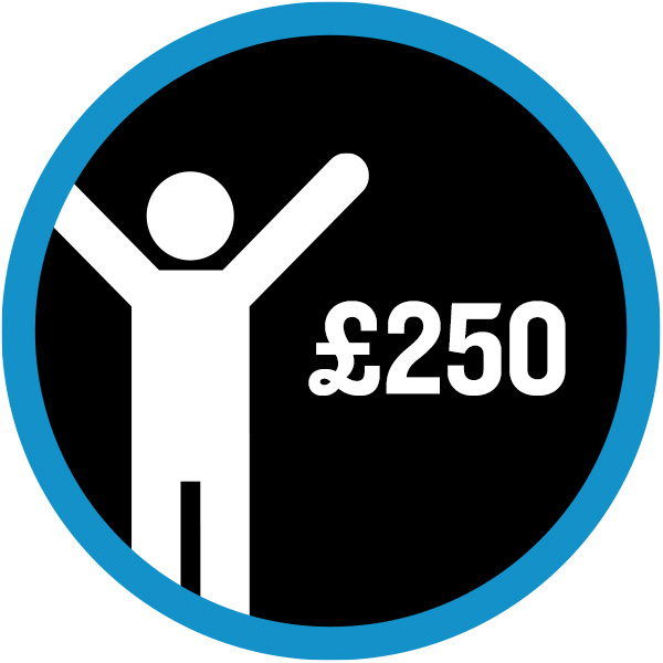 £250 badge