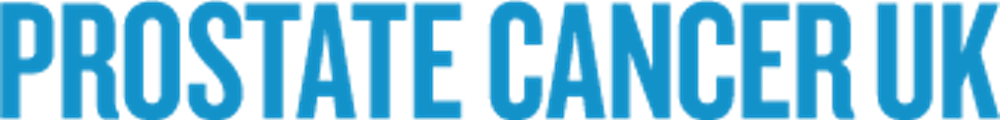 Prostate Cancer UK text logo in blue