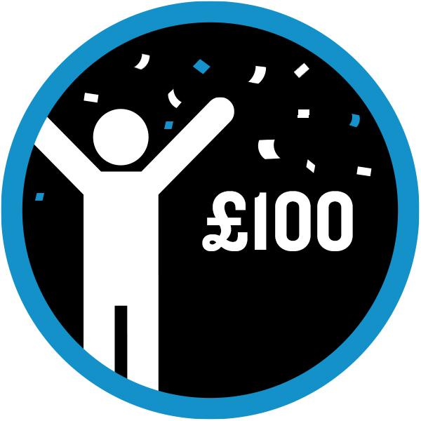 £100 raised icon
