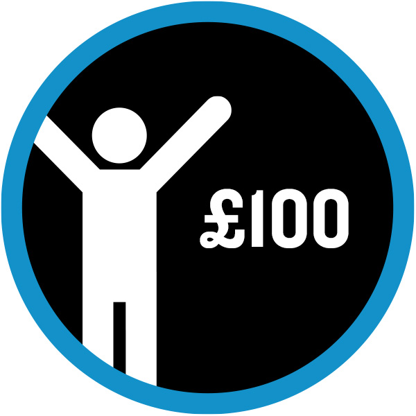 £100 badge