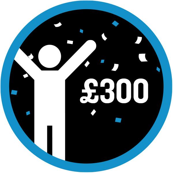 £300 raised icon