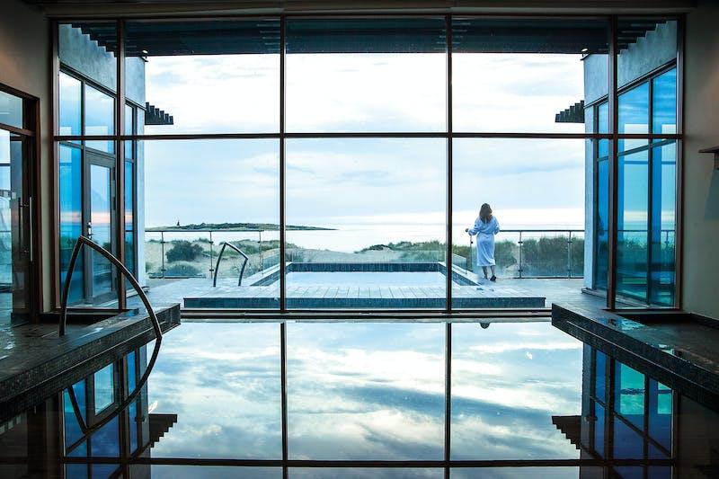 Utsikt över havet från Hotel Tylösand