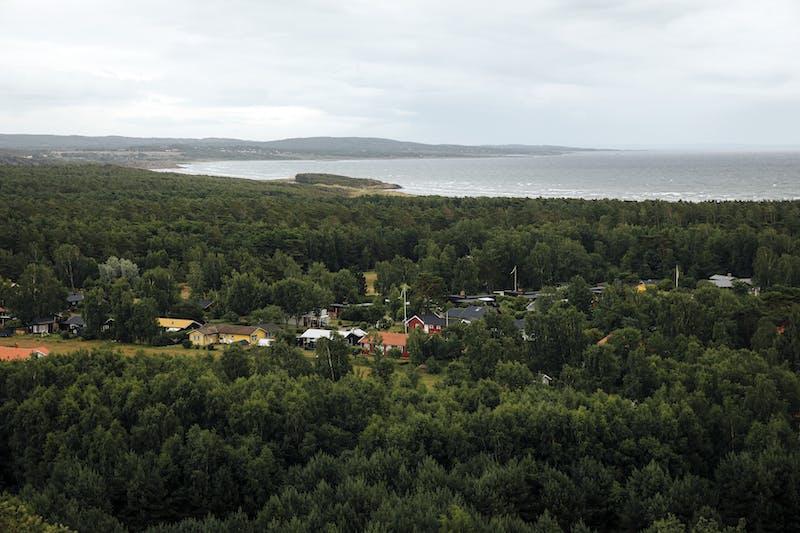 Utsikt över smörkullen i Falkenberg