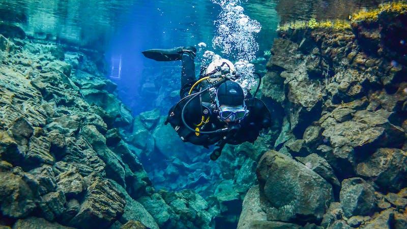 Scuba diving in Silfra