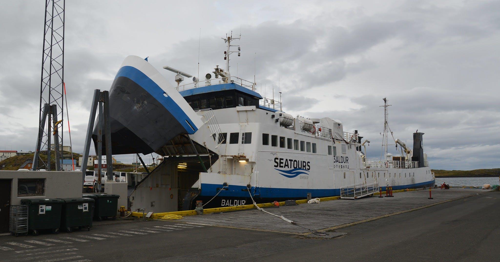 Baldur ferry in Stykkisholmur