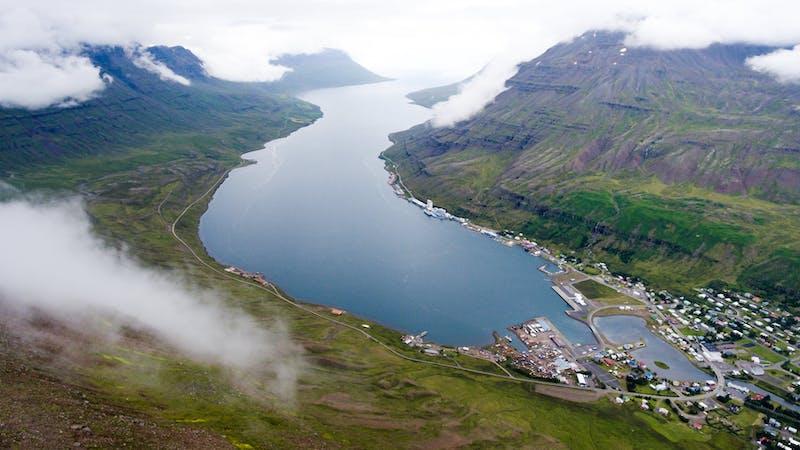 Seydisfjordur town in East Iceland