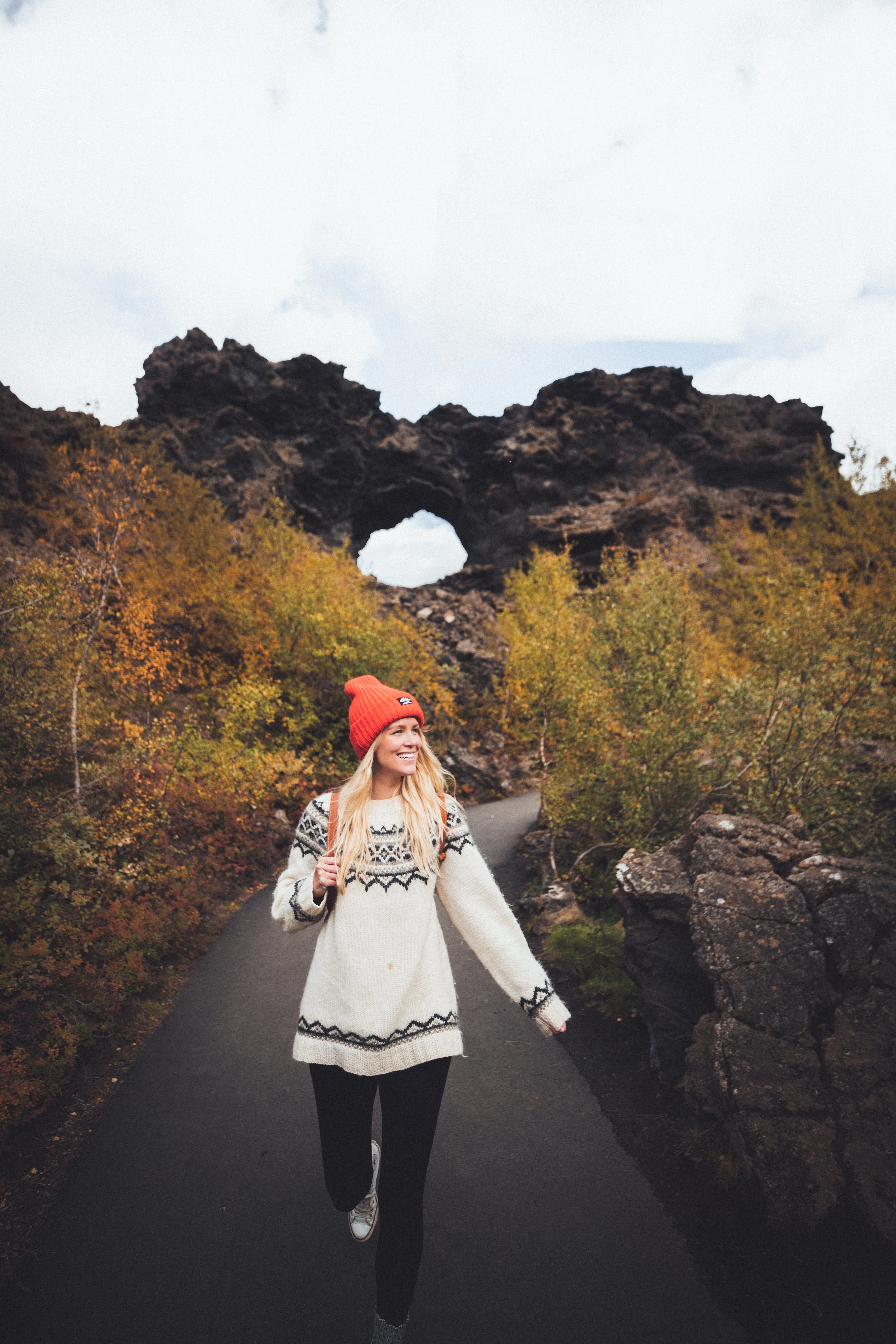 Berry picking in North Iceland