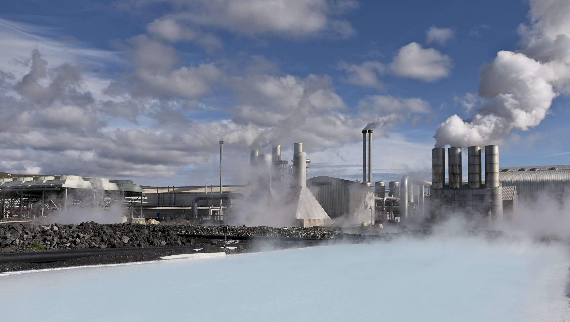 Geothermal water and renewable energy are used in Iceland to grow vegetables year-round in greenhouses.