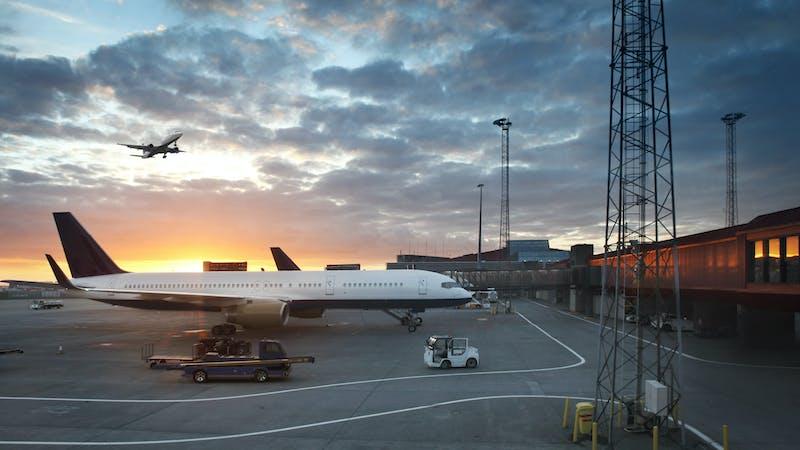 Airplanes at Keflavik airport