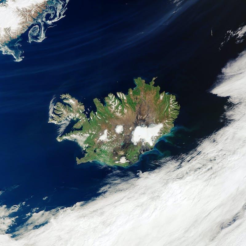 Sattelite image of Iceland
