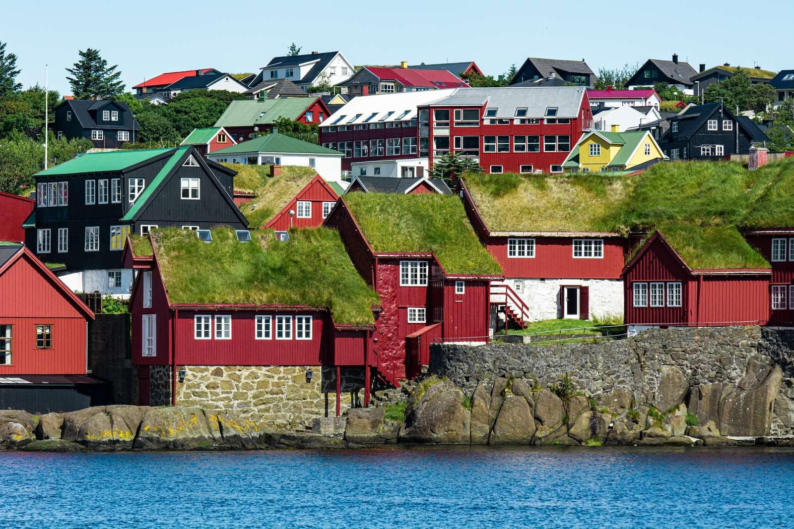 Houses in Thorshavn in the Faroe islands
