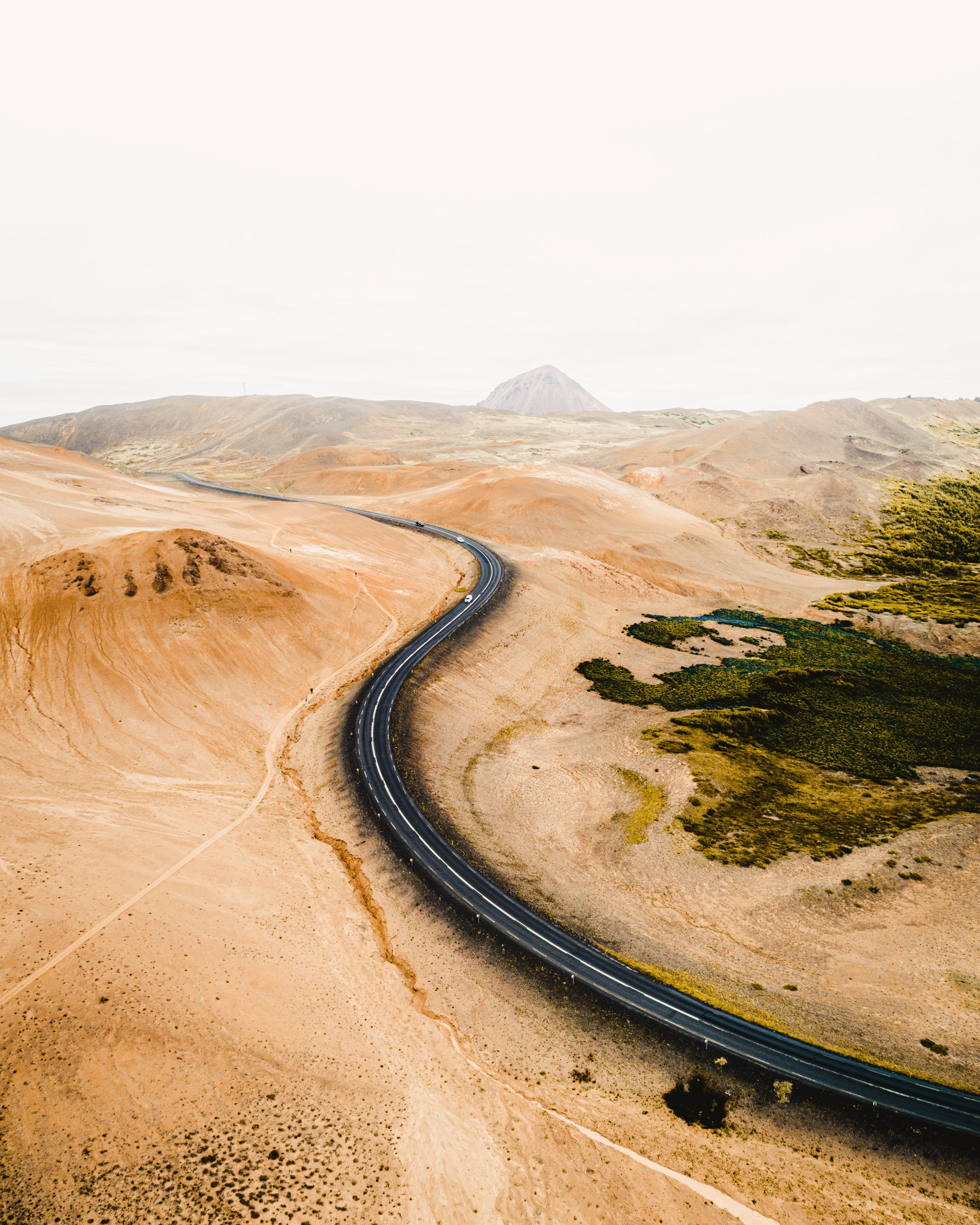 Highland road in Iceland