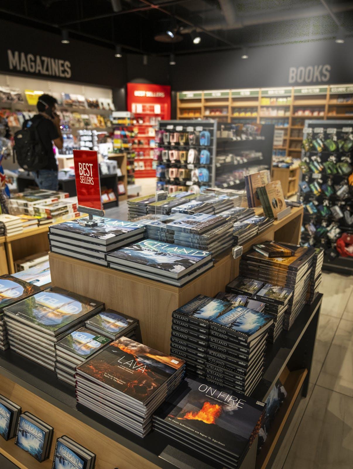Book store at Keflavik airport