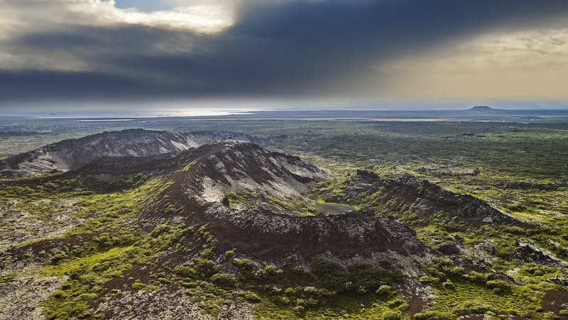 Volcanic landscape in West Iceland