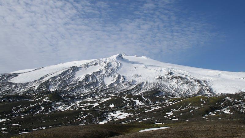 Snaefellsjokull volcano and glacier