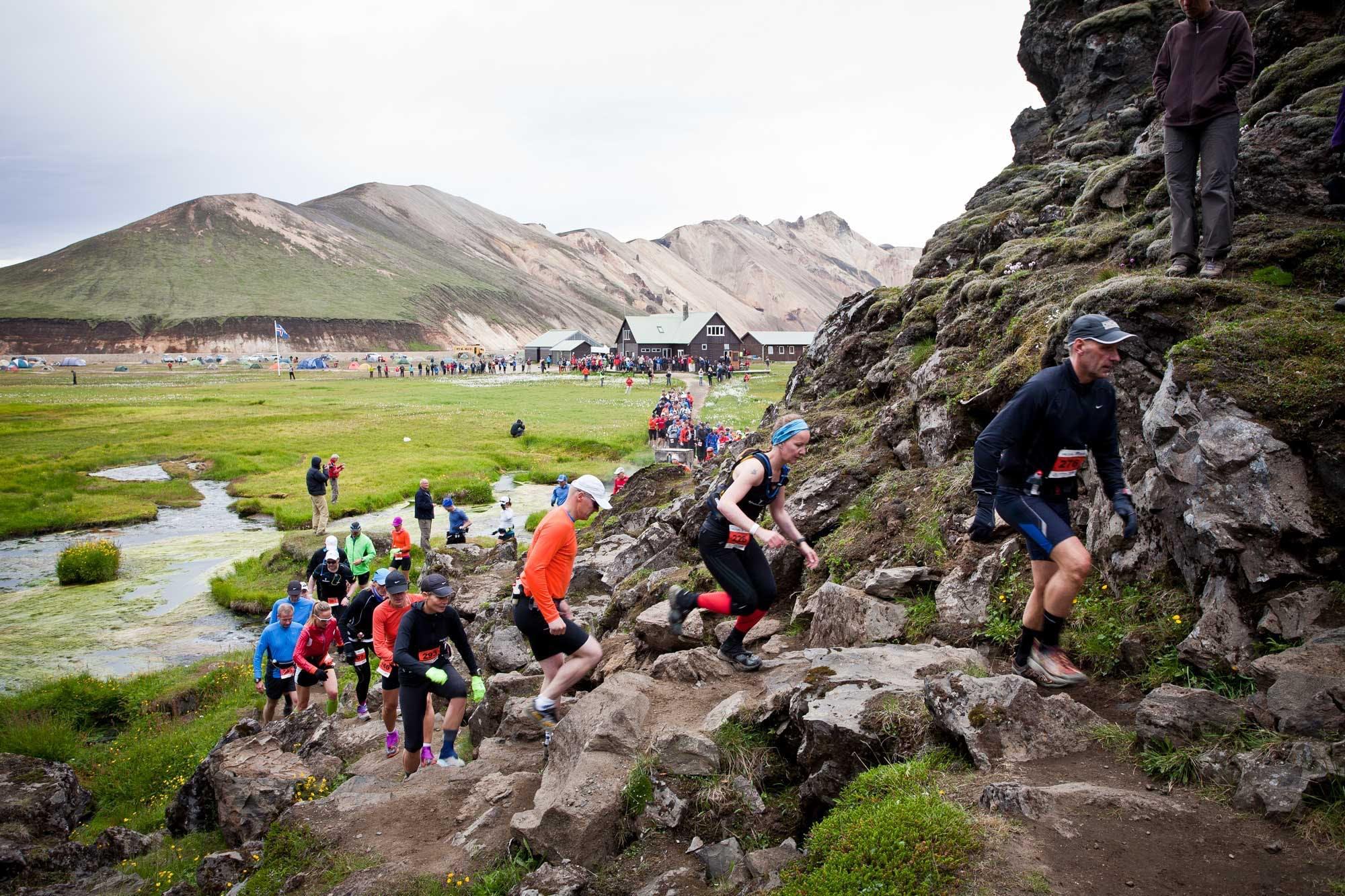 Ultra marathon on Laugavegur hiking trail