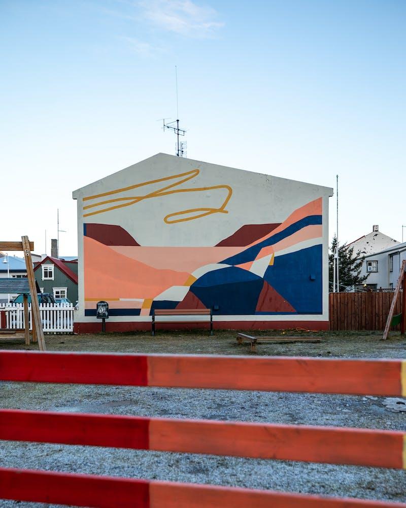 Mural in Ísafjörður
