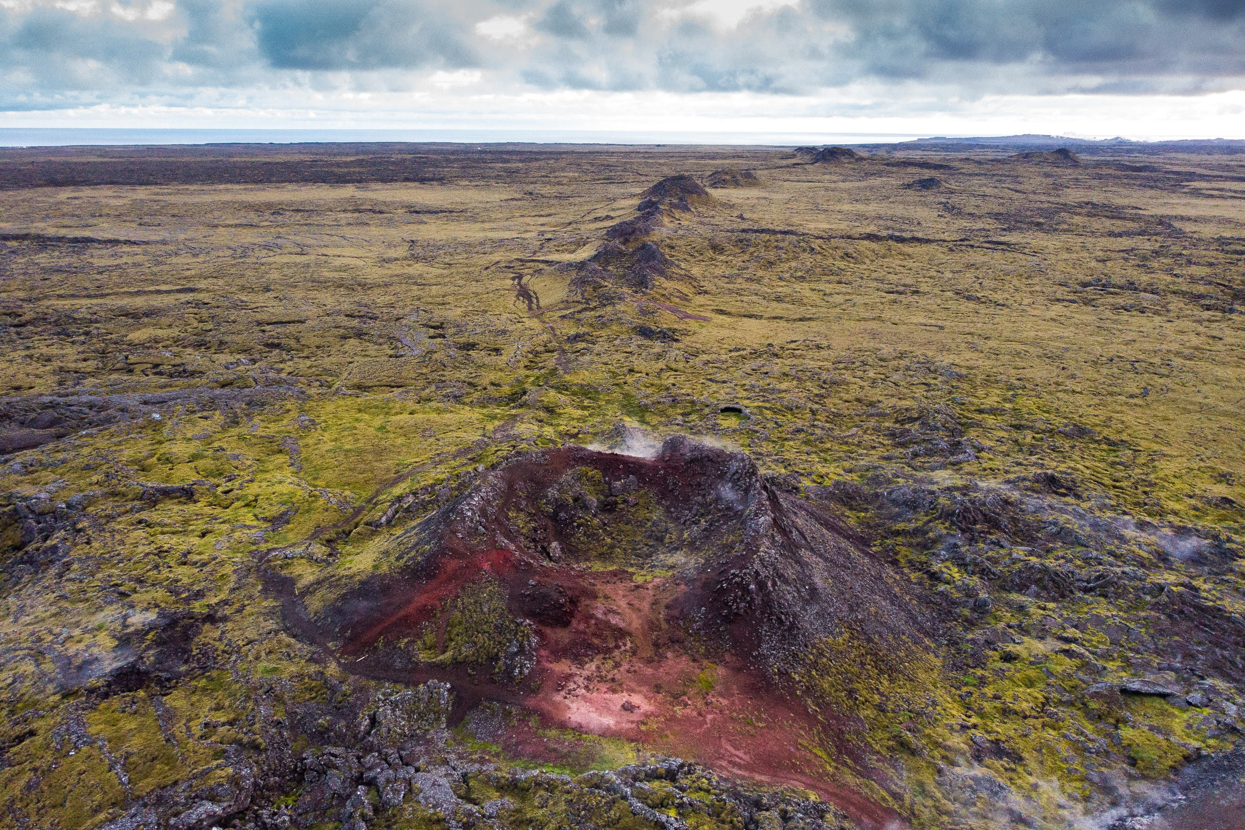 Lava fields on Reykjanes peninsula