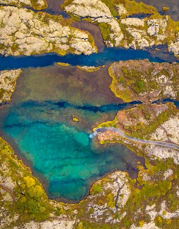 Silfra fissure in Þingvellir National Park
