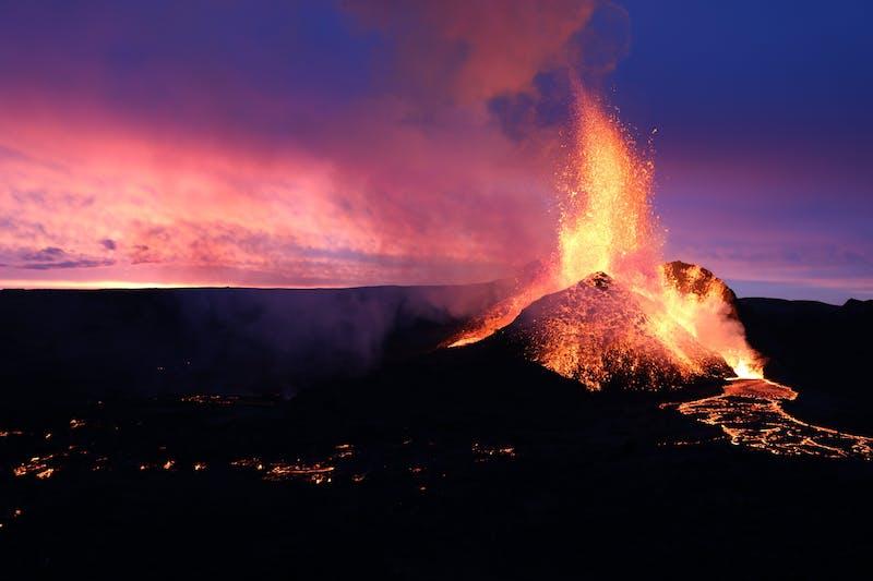 Volcanic eruption in Fagradalsfjall 2001