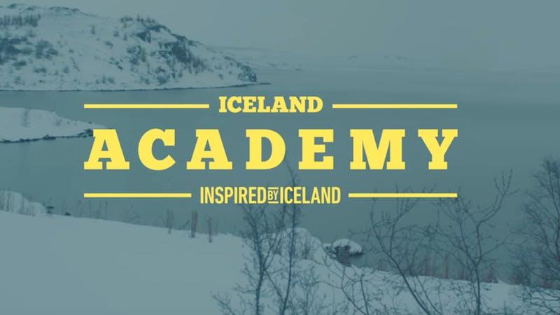 Iceland academy banner