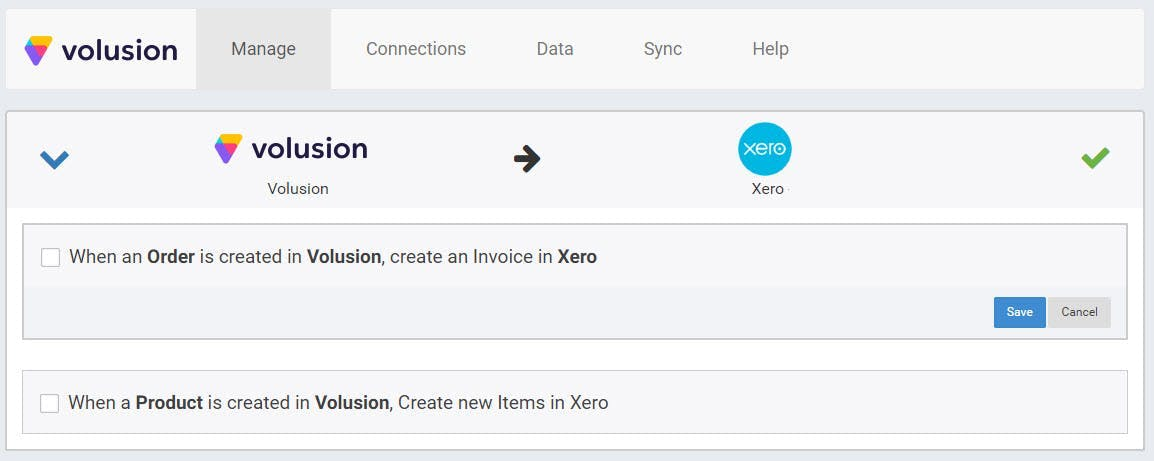 Xero screenshot