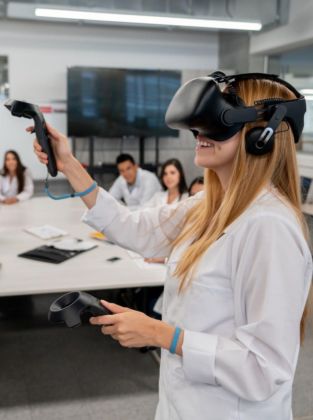 VR praktijktraining in de klas