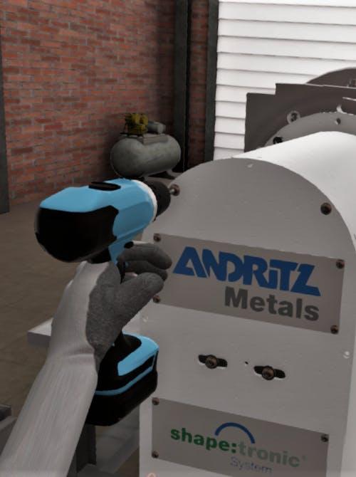VR Training voor de walsmachine