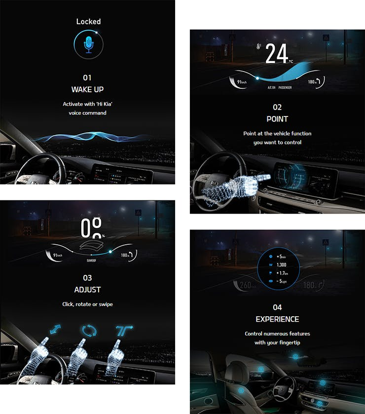 Virtual Touch Technology with KIA