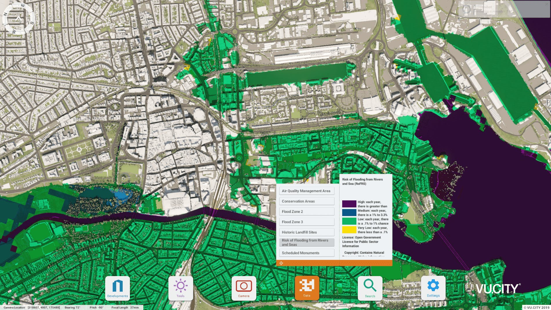 VU.CITY Cardiff risk flooding
