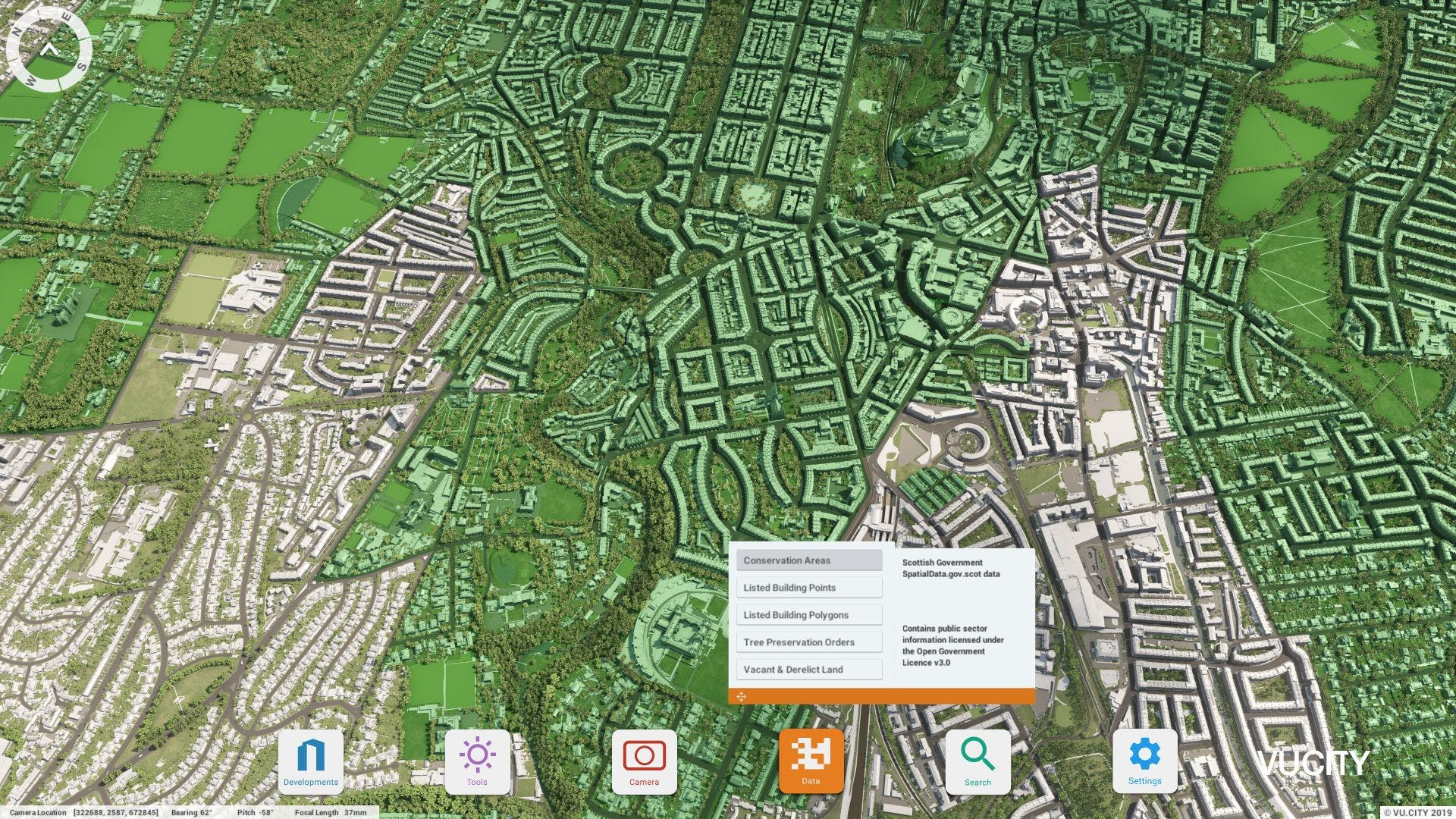 Edinburgh VU.CITY data layer - Conservation Area