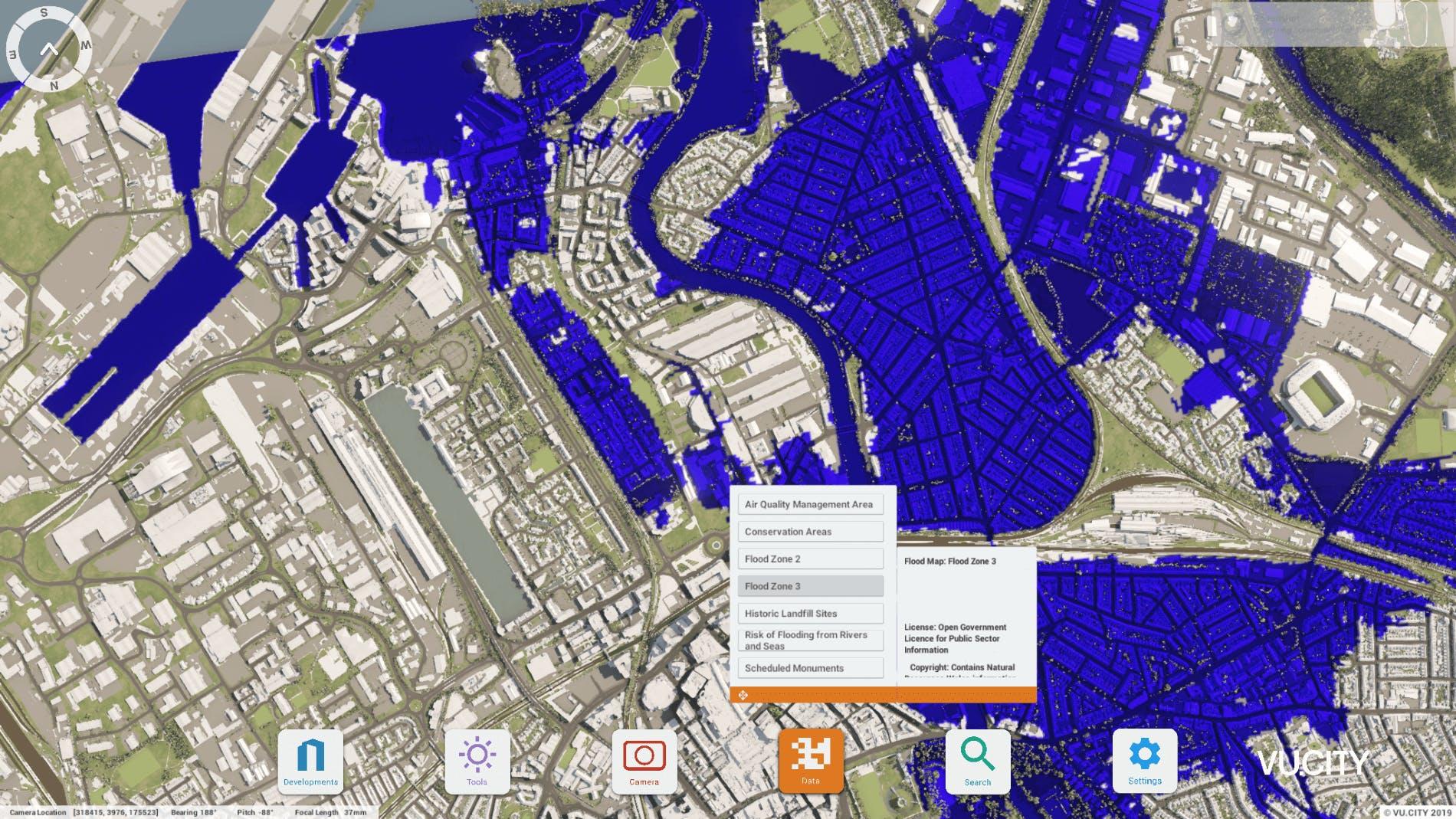 VU.CITY Cardiff flood zone 3