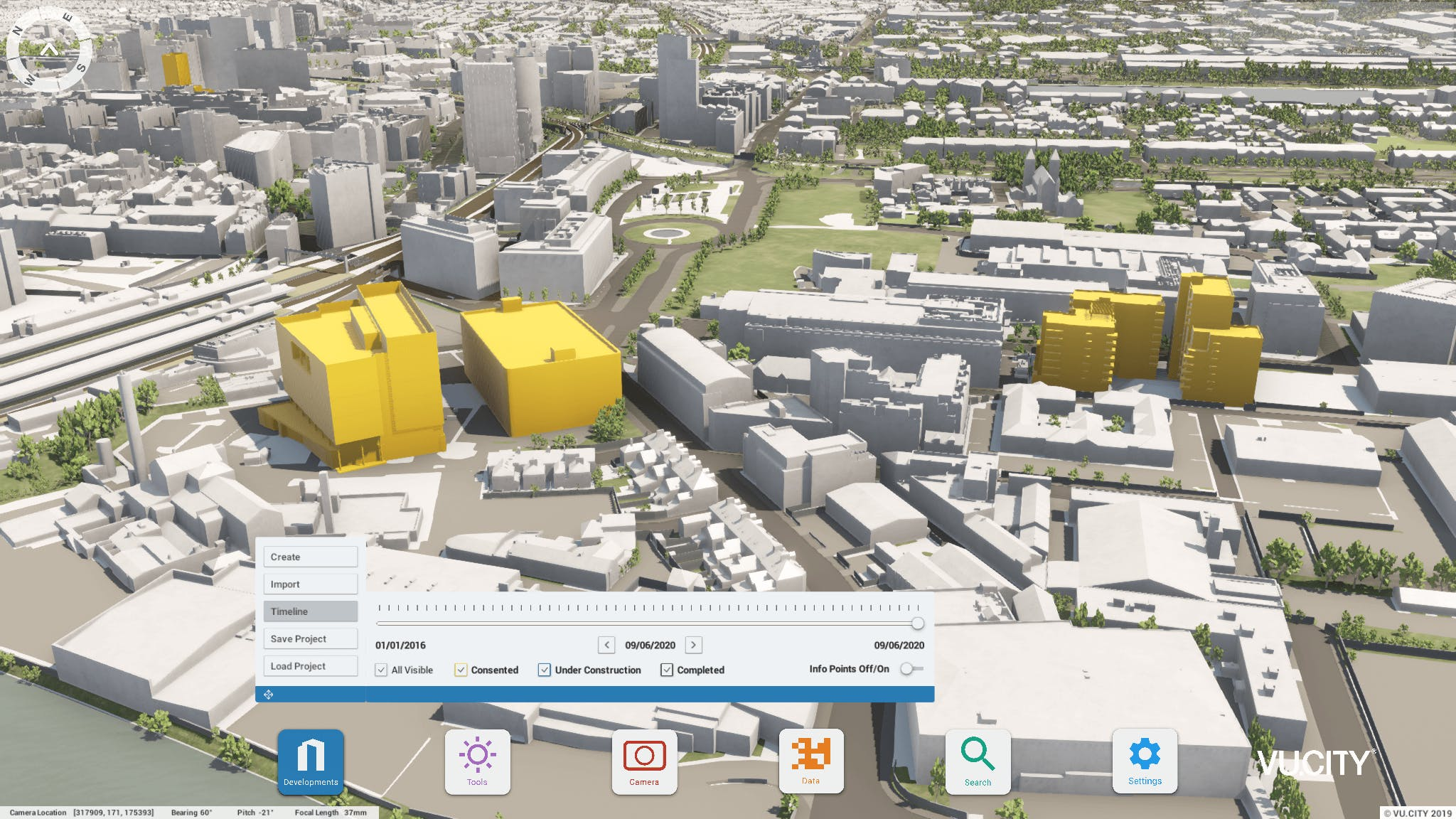 Add, search and explore existing and proposed developments