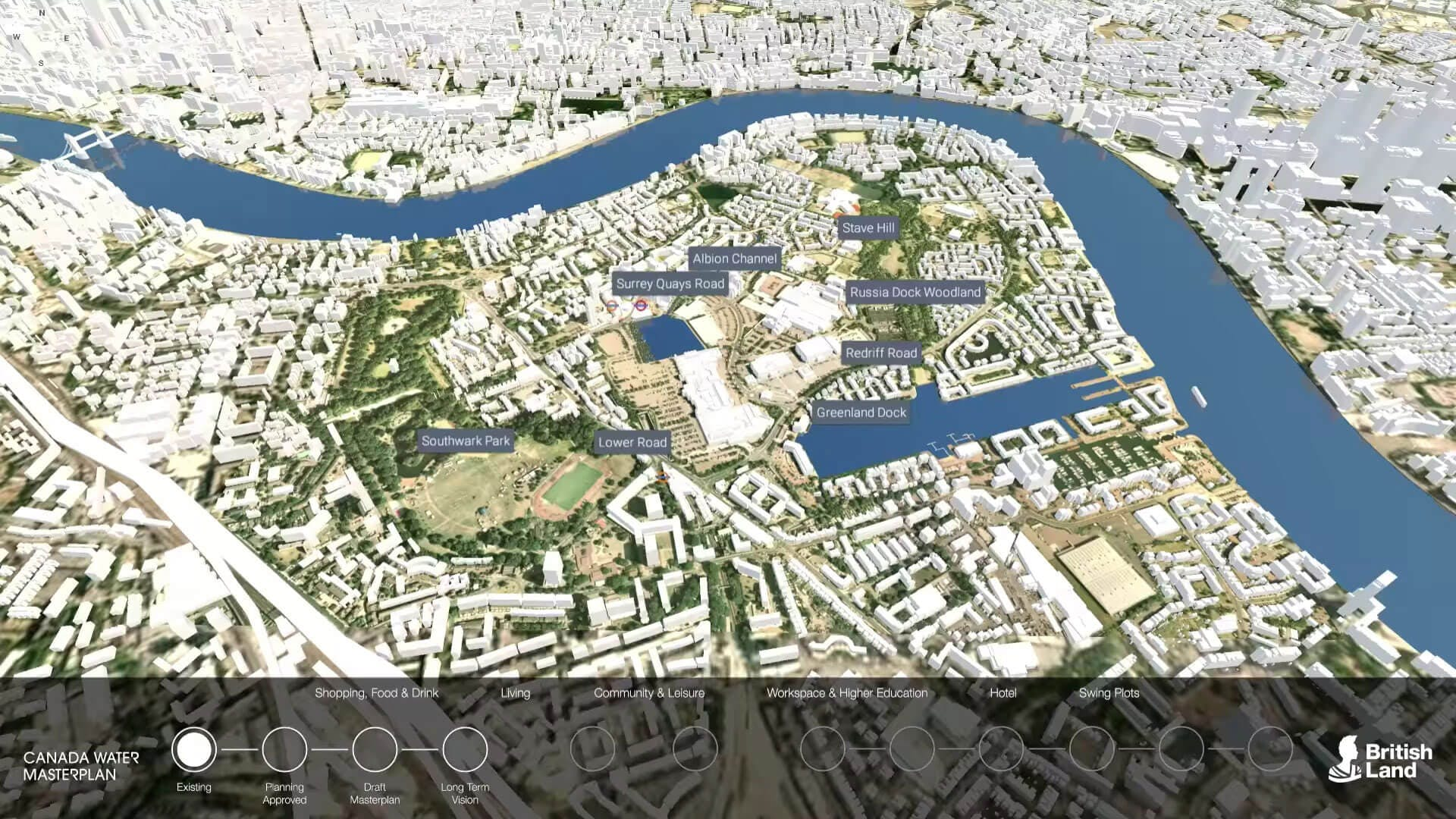 Canada Water interactive 3D consultation application