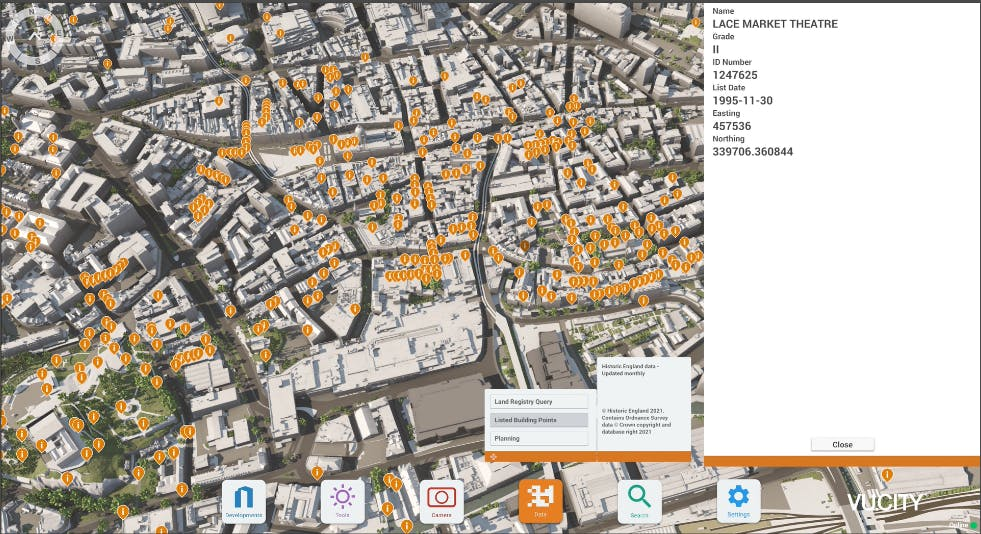 Nottingham Listed Building Points