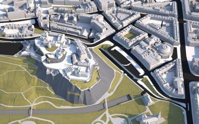 VU.CITY Edinburgh 3D Modelling LOD3