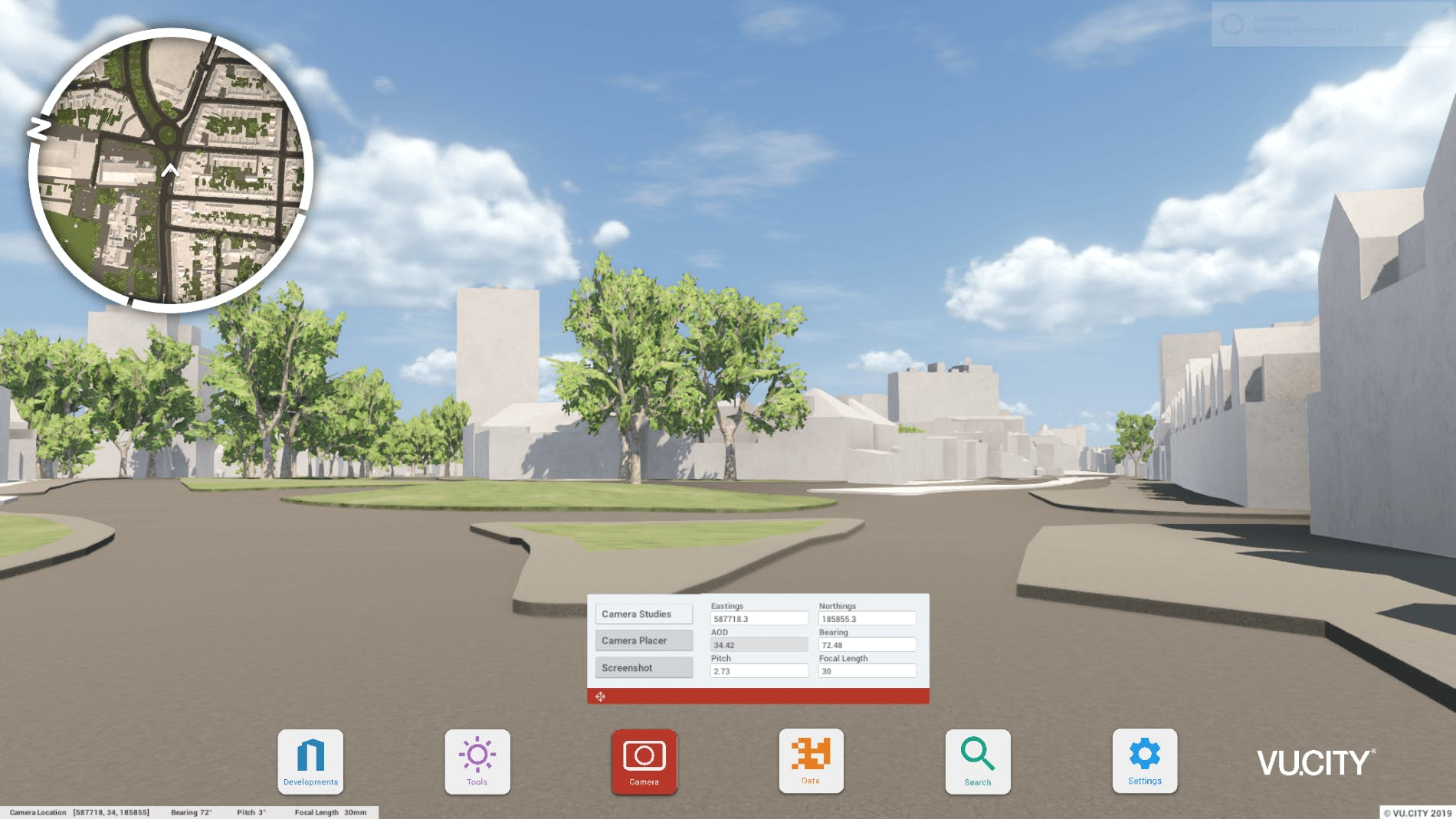 View the model by walking around at street level
