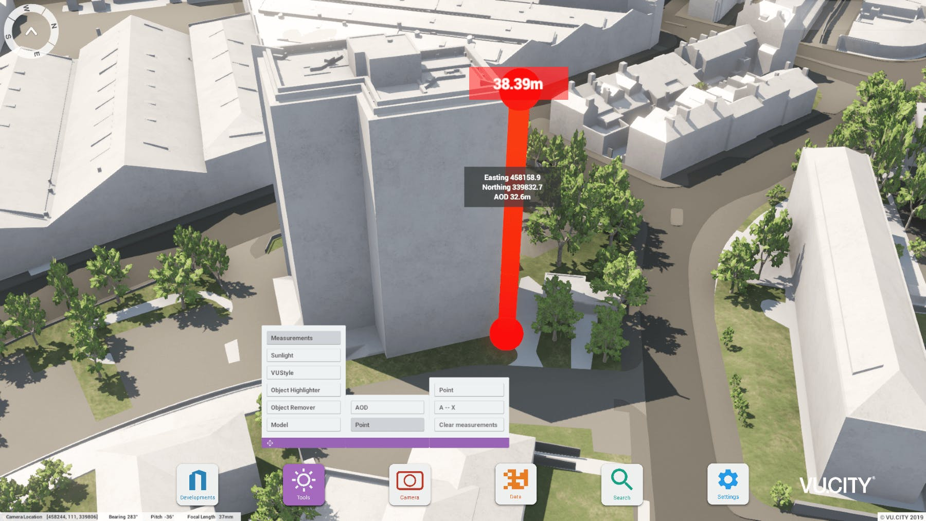 Use Measurement Tools to assess sites, early massing and refined designs