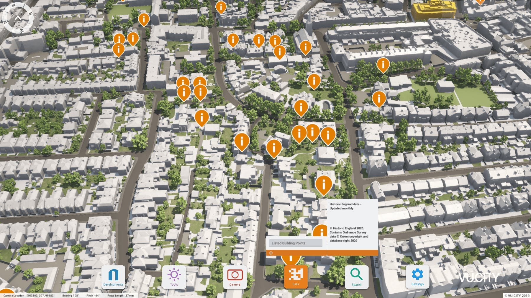 Use Data layers such as Listed Buildings, to help understand an area and reduce research time on site appraisals.