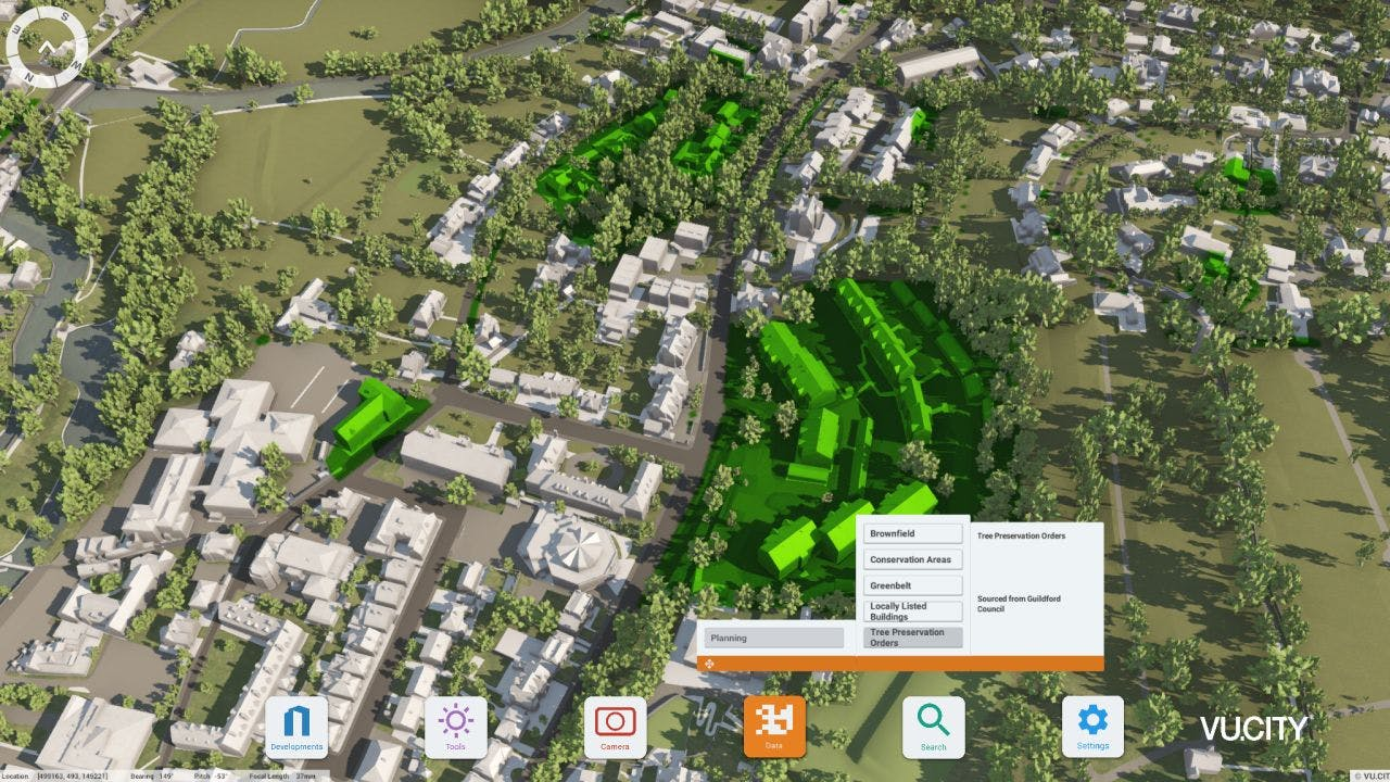 VU.CITY Guildford Tree Preservation Orders
