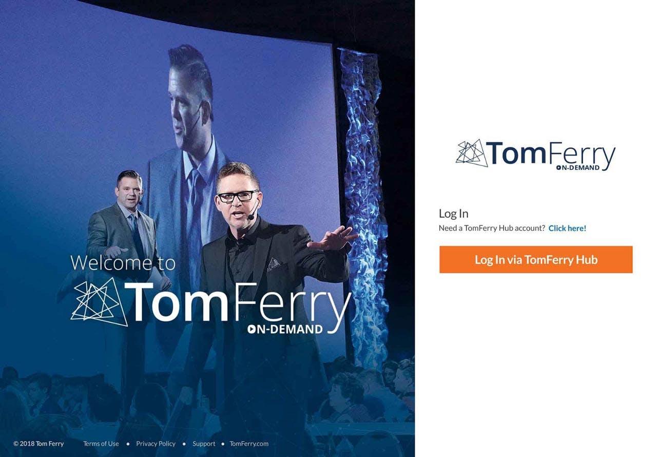 Photo illustration of the website Vulcan built for Tom Ferry