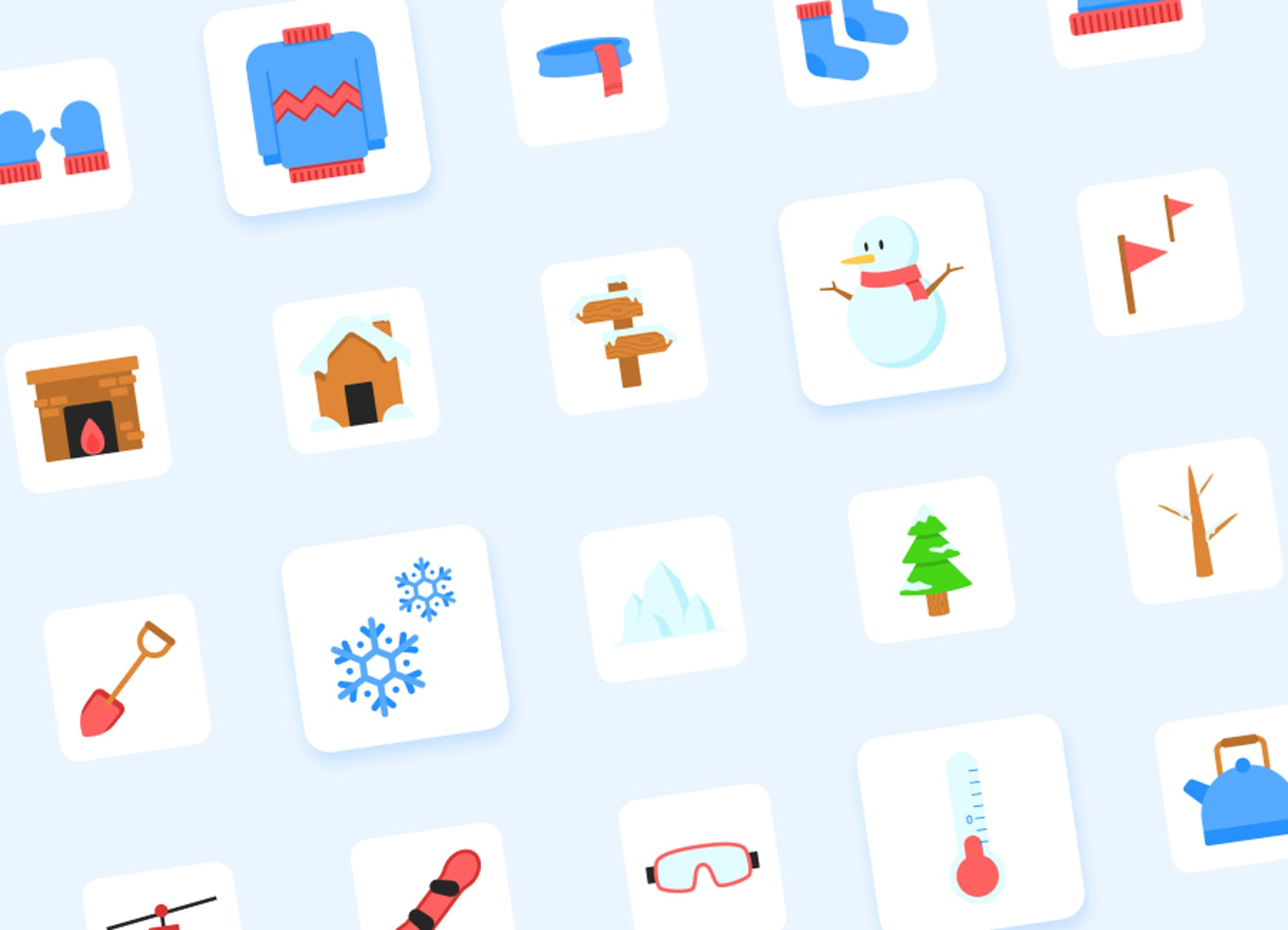 25 winter icons by Vulcan Creative Agency.