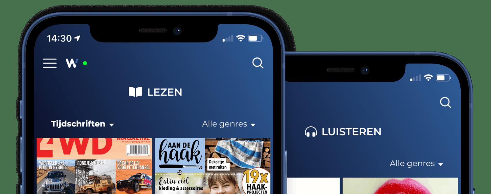 Lezen en luisteren in app
