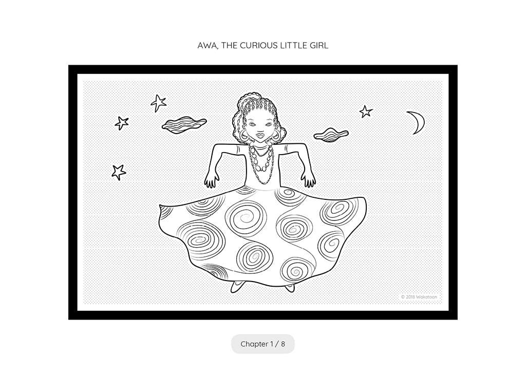 Imprimez et coloriez ce dessin et transformez-le gratuitement en film d'animation avec l'application Wakatoon.