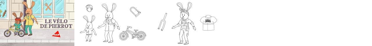 Aperçu coloriages animés réalisés pour MAIF