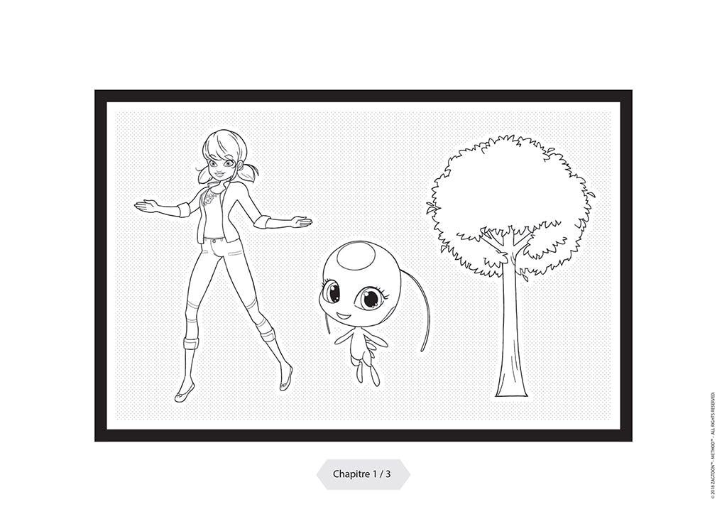 Testez gratuitement ce coloriage qui se transforme en dessin animé avec l'héroïne parisienne, Miraculous Ladybug.