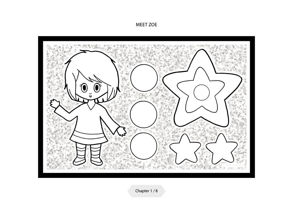 Transformez gratuitement ce coloriage en dessin animé grâce à l'application Wakatoon