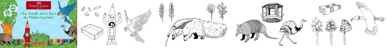 Aperçu coloriages animés réalisés pour Faber-Castell