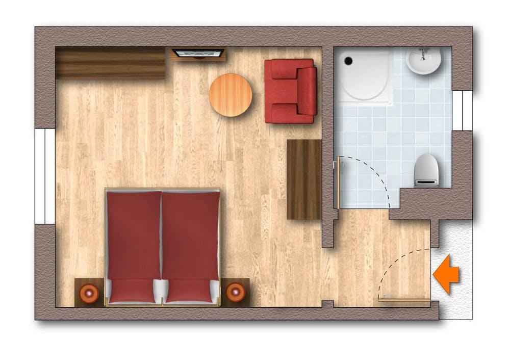 Doppelzimmer Waldcafe - 1 bis 3 Personen im Waldcafe in Mayrhofen