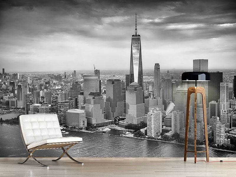 FOTOTAPETE SKYLINE SCHWARZWEISSFOTOGRAFIE NEW YORK